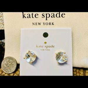 "NWT Kate Spade ""Clear"" Stud Earrings"